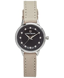 Lucky Brand Women's Torrey Mini Nude Leather Strap Watch 28mm