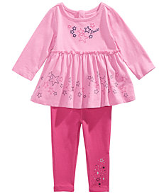 Levi's® Baby Girls 2-Pc. Cotton Star Tunic & Leggings Set