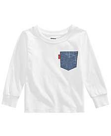 Levi's® Baby Boys Chambray Pocket Cotton T-Shirt