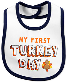 Carter's Baby Boys & Girls Turkey-Graphic Cotton Bib