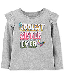 Carter's Toddler Girl Coolest Sister Graphic Cotton Shirt