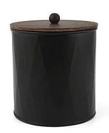 Thirstystone Small Black Metal Canister with Wood Top