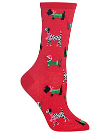 Hot Sox Women's Cozy Dogs Crew Socks