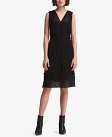 DKNY Pleated Wrap Dress, Created for Macy's