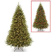 National Tree 7 .5' Kingswood Fir Medium Hinged Tree with 500 Dual Color(R) LED Lights + PowerConnect System- 9 Functions