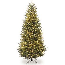 National Tree 6 .5' Natural Fraser Slim Fir Tree with 450 Clear Lights