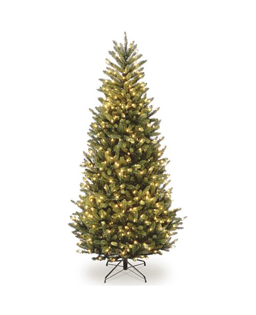 National Tree Company National Tree 6 .5' Natural Fraser Slim Fir Tree with 450 Clear Lights