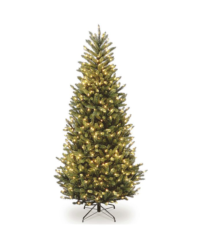 National Tree Company - 6 .5' Natural Fraser Slim Fir Tree with 450 Clear Lights