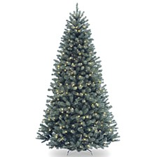 National Tree 9' North Valley Blue Spruce Tree with 800 Clear Lights