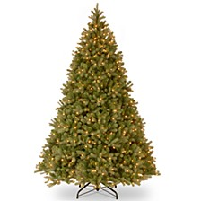 "National Tree 9' ""Feel Real"" Downswept Douglas Fir Hinged Tree with 900 Clear Lights"