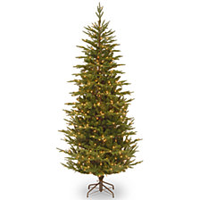 National Tree 7 .5' Frasier Grande Slim Tree with 600 Clear Lights