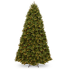 National Tree 9' Feel Real Newberry ™  Spruce Hinged Tree with 1200 Dual Color  LED Lights &  PowerConnect™