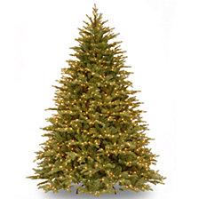 """National Tree 7 .5' """"Feel Real"""" Nordic Spruce Hinged Tree with 1000 Clear Lights"""