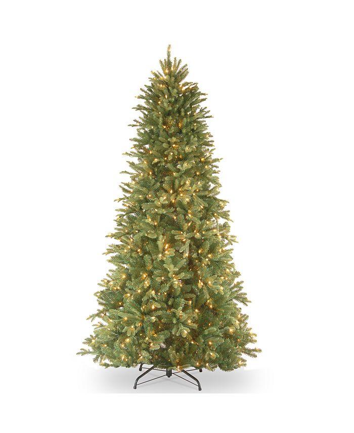 "National Tree Company - National Tree 6 .5' ""Feel Real"" Tiffany Fir Slim Hinged Tree with 500 Clear Lights"