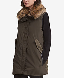 DKNY Faux-Fur-Trim Vest, Created for Macy's