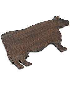 Thirstystone Acacia Wood Cow Serving Board