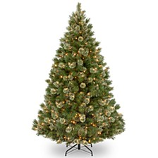 National Tree 7 .5' Wispy Willow Grande Medium Hinged Tree with 750 Clear Lights
