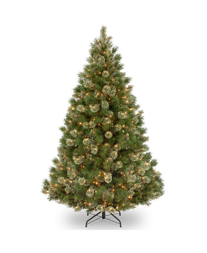 National Tree Company - National Tree 7 .5' Wispy Willow Grande Medium Hinged Tree with 750 Clear Lights