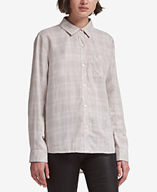 DKNY Metallic Plaid Shirt, Created for Macy's