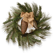 "National Tree Company 30"" Wreath with Gold Ribbon"