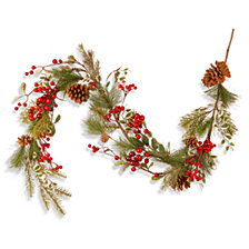 """National Tree Company 60"""" Cones & Red Berry Garland"""