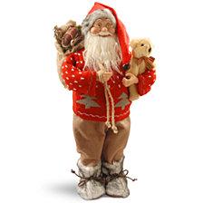 "National Tree 17.7"" Standing Santa"