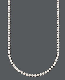 """Belle de Mer Pearl Necklace, 36"""" 14k Gold A Cultured Freshwater Pearl Strand (6-7mm)"""
