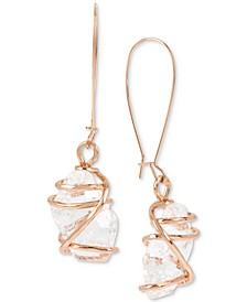 Caged Crystal Drop Earrings