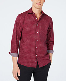 Tallia Men's Slim-Fit Micro Dot Print Woven Shirt
