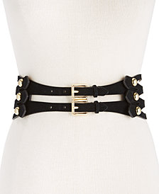 MICHAEL Michael Kors Caged Suede Stretch Belt
