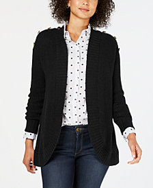 Charter Club Petite Open-Front Completer Cardigan, Created for Macy's