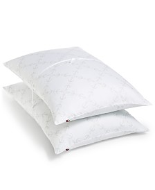 CLOSEOUT! Tommy Hilfiger Home Anchor Lattice 200-Thread Count 2-Pc. Pillow Collection