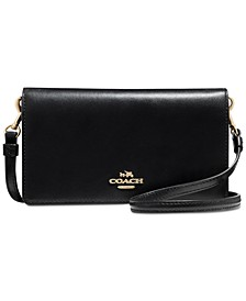 Slim Phone Crossbody in Smooth Leather