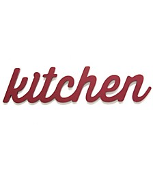 Stratton Home Decor Red Kitchen Wood Word Decor