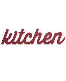 Stratton Home Decor Red Kitchen Wood Word Decor