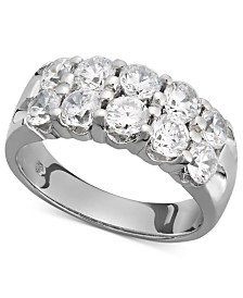 Two-Row Certified Diamond Band Ring in 14k White Gold (2 ct. t.w.)