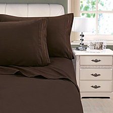 3-Line Stripe Embroidery 3-Pc. Twin Sheet Set