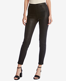 Karen Kane Faux Snake Leather Skinny Pants