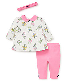 Little Me Baby Girls Botanical Bouquet Tunic Set with Headband