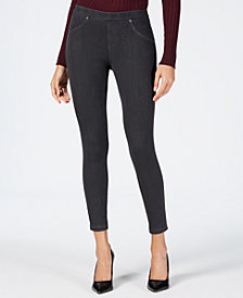 HUE® Original Denim Laced-up Skimmer Leggings