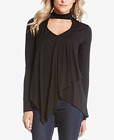 Karen Kane Mock Neck Drape Top