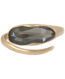 Robert Lee Morris Soho Gold-Tone Stone Bypass Bangle Bracelet