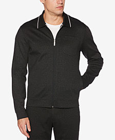Perry Ellis Men's Zip-Front Heathered Jacket