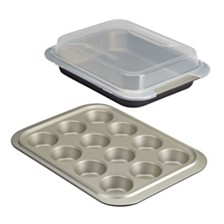 Anolon Allure Nonstick 3-Pc. Bakeware Set with Shared Lid