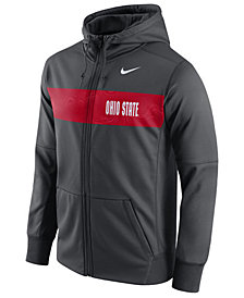 Nike Men's Ohio State Buckeyes Performance Sideline Hooded Sweatshirt