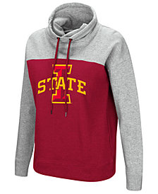 Colosseum Women's Iowa State Cyclones Logo Funnel Neck Hooded Sweatshirt
