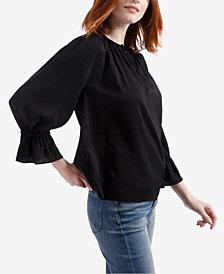 Lucky Brand Split-Neck Poet Shirt