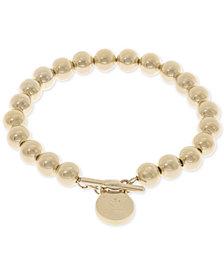 Lauren Ralph Lauren Gold-Tone Logo Beaded Bracelet