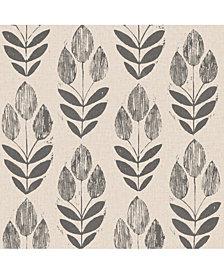 Folk Tulip Peel and Stick Wallpaper