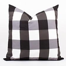 """Black And White Gingham Pillow 20"""""""